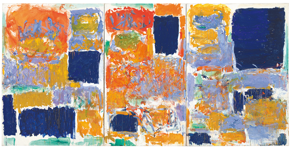 Painting by artist Joan Mitchell called Closed Territory 1073